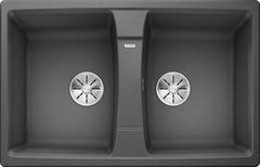 Кухонная мойка Blanco LEXA 8 SILGRANIT PuraDur 524961, темная скала