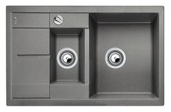 Кухонная мойка Blanco METRA 6S Compact SILGRANIT PuraDur 513553, алюметаллик