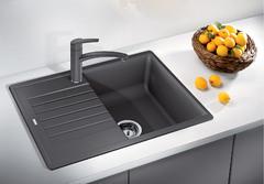 Кухонная мойка Blanco ZIA 45 S Compact SILGRANIT PuraDur 524722, темная скала