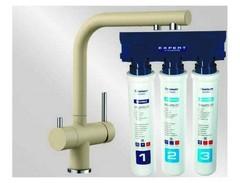 Комплект смеситель Blanco Fontas II (шампань) + BWT Барьер Expert Standart 525143P1
