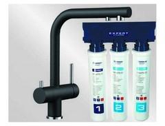 Комплект смеситель Blanco Fontas II (антрацит) + BWT Барьер Expert Standart 525139P1