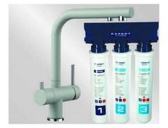 Комплект смеситель Blanco Fontas II (жемчужный) + BWT Барьер Expert Standart 525147P1